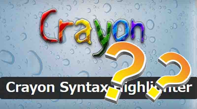 2019年版 Crayon Syntax Highlighterのエラー